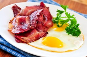 Bacon & eggs - from Potters of Barnsley wholesale butchers