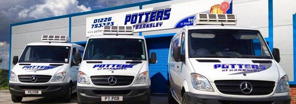Our fleet of vans - ready to hit the roads of Yorkshire with our award winning produce!